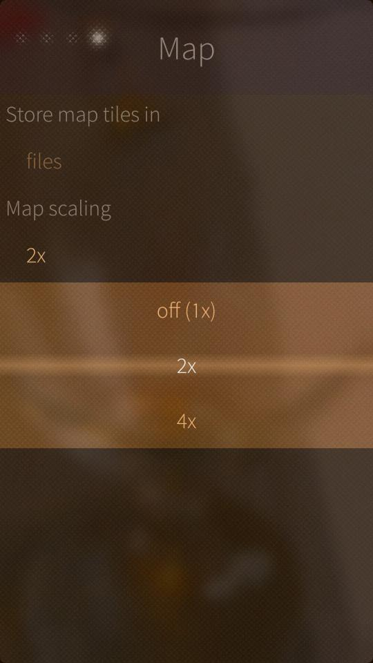 map scale settings